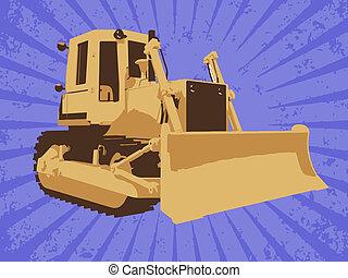 ベクトル, 建設, トラック