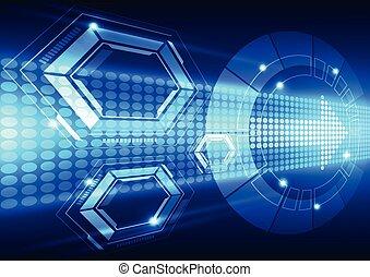 ベクトル, 技術, 抽象的, システム, イラスト, 背景, 未来, スピード