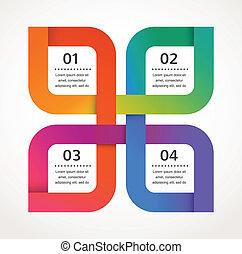 ベクトル, 抽象的, infographics, 背景, デザイン, アイコン