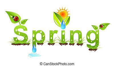 ベクトル, 春, 概念, 単語