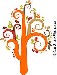 ベクトル, 木, カラフルである
