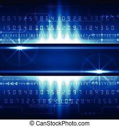 ベクトル, 概念, 抽象的, 背景, デジタル, 未来, 技術