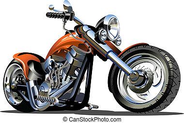 ベクトル, 漫画, モーターバイク