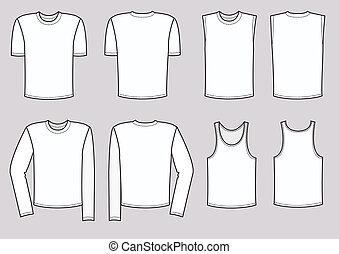 ベクトル, 男性, 衣類, illustration., 衣服