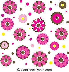 ベクトル, 花, 春, カラフルである