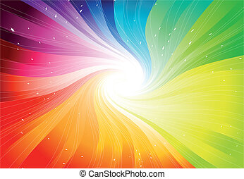 ベクトル, 虹, starburst, 有色人種