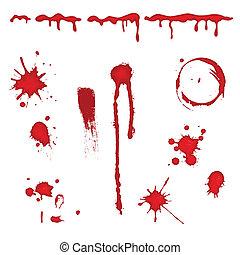 ベクトル, 血, -, スプラッター