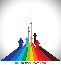 ベクトル, 表しなさい, グラフィック, カラフルである, ∥など∥, これ, 矢, 提示, いくつか, 販売, イラスト, また, 競争相手, 勝者, 資産, パフォーマンス, パフォーマンス, 従業員, losers., ∥あるいは∥, 缶