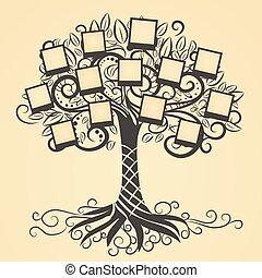 ベクトル, 記憶, 木, 写真