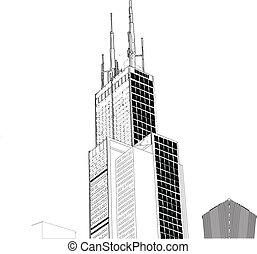 ベクトル, 超高層ビル, シカゴ
