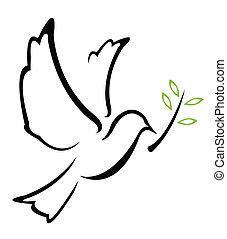 ベクトル, 鳩, 平和