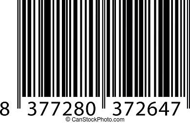 ベクトル, barcode, イラスト