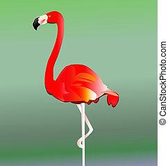 ベクトル, eps10, 鳥, フラミンゴ