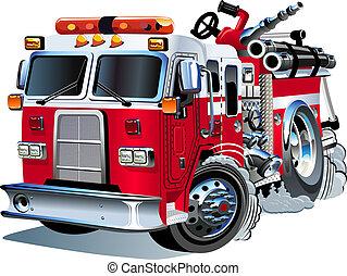ベクトル, firetruck, 漫画