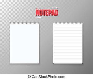 ベクトル, mockup, set., メモ用紙, らせん状に動きなさい, 現実的, ノート, 開いた, template., 空