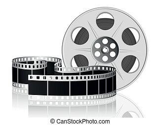ベクトル, movie., illustration., フィルム, twisted