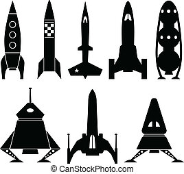 ベクトル, rocketship, アイコン