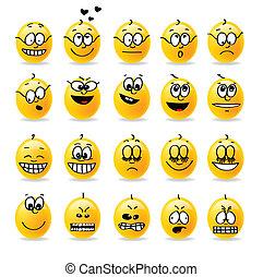 ベクトル, smiley, ムード, 感情