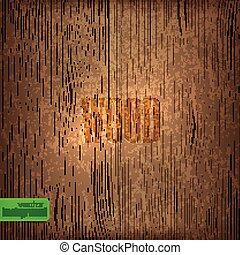 ベクトル, texture., 背景, 木