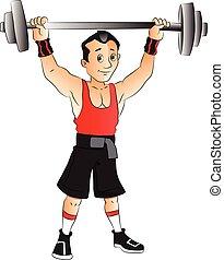 ベクトル, weightlifting., 人