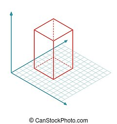ベクトル, x, z, 軸, y, 方向