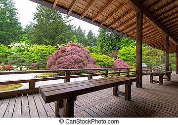 ベランダ, 光景, 庭の日本人