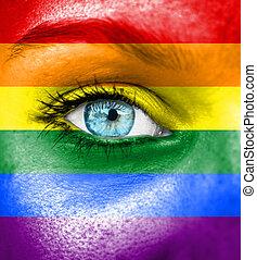 ペイントされた, 誇り, 旗, 女性の表面
