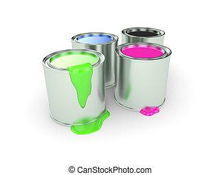 ペンキの 缶