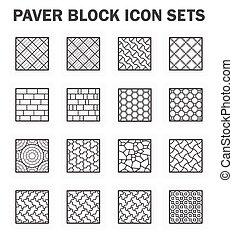 ペーバー, ブロック, セット