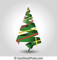 ペーパー, クリスマス, 作られた, 木