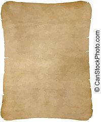 ペーパー, 古い, 羊皮紙