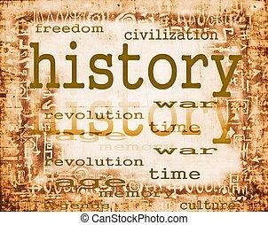 ペーパー, 概念, 古い, 歴史