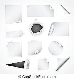 ペーパー, 白, デザインを設定しなさい, 要素