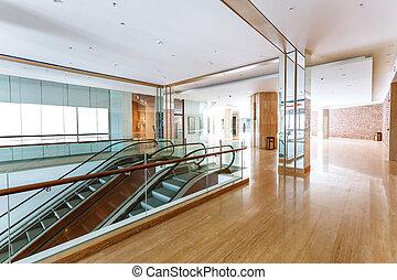 ホテル, エスカレーター, 廊下
