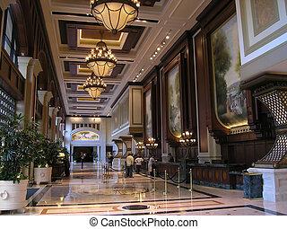 ホテル, 贅沢, ロビー