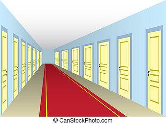 ホール, ドア