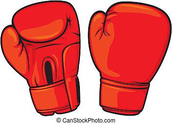 ボクシング用グラブ, 赤