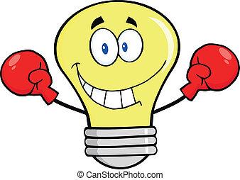 ボクシング, 身に着けていること, 手袋, 電球, ライト