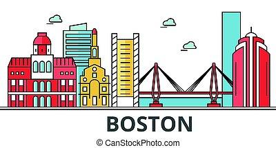 ボストン, 都市, skyline.