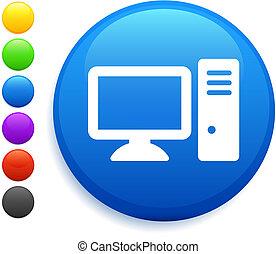 ボタン, コンピュータアイコン, ラウンド, インターネット
