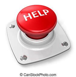 ボタン, 助け, 赤