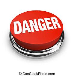 ボタン, -, 危険, 単語, ありなさい, ラウンド, 注意, 赤, 使用, 警告