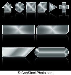 ボタン, 金属