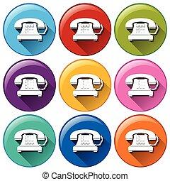 ボタン, 電話