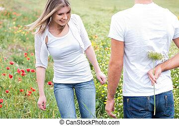 ボーイフレンド, 花, 隠ぺい