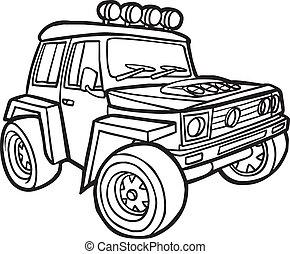 ボーダー, 漫画, jeep.