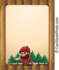 ボーダー, lumberjack, デザイン