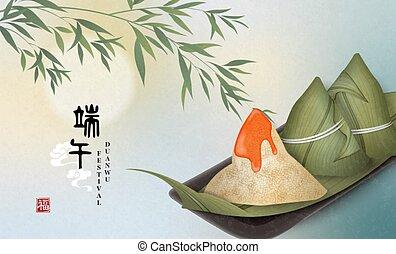 ボート, 幸せ, ゆで団子, テンプレート, 食物, 竹, duanwu, 米, 祝福, 翻訳, 背景, 伝統的である, 中国のドラゴン, :, leaf., 祝祭