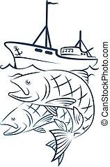 ボート, 捕獲物, 釣り