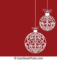 ボール, クリスマス装飾